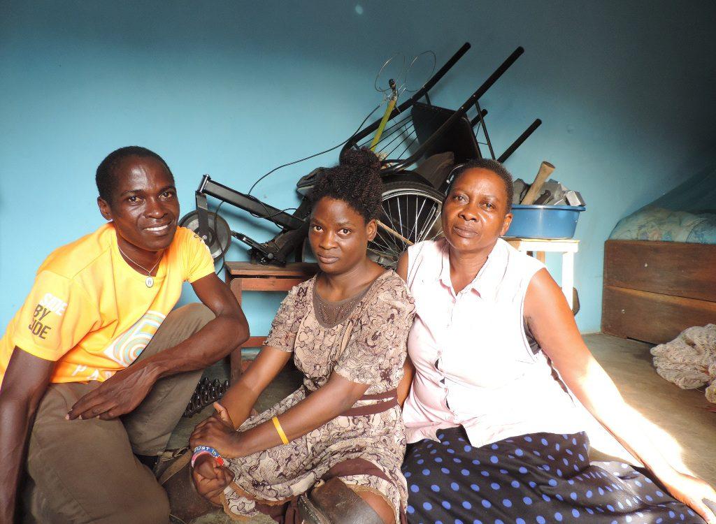 Nalusiba Rita a 30-year-old youth with Cerebral Palsy from Kanyanya Village